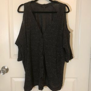 Lane Bryant size 26 / 28 Cold Shoulder cardigan